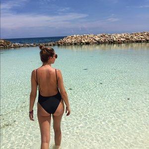 American Apparel Low Back Bathing Suit